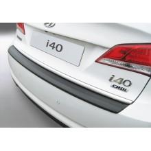 Накладка на задний бампер с загибом HYUNDAI i40 sedan (2012 -)