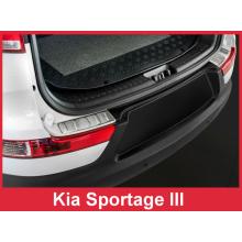 Накладки на задний бампер Kia Sportage III (2010-2015)