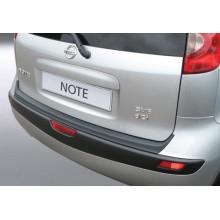Накладка на задний бампер полиуретановая Nissan Note (2006-2013)