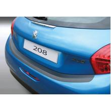 Накладка на задний бампер Peugeot 208 3/5D (2012-)