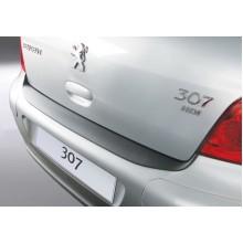 Накладка на задний бампер Peugeot 307 3/5D (2001-2007)