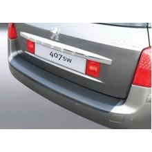 Накладка на задний бампер Peugeot 407 SW (2009-2011)