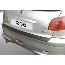 Накладка на задний бампер Peugeot 206/206 CC