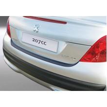 Накладка на задний бампер Peugeot 207 CC (2007-)