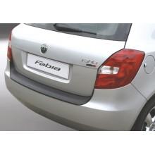 Накладка на задний бампер полиуретановая Skoda Fabia (2007-2010)