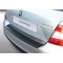 Накладка на задний бампер полиуретановая Skoda Rapid (2012-)