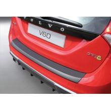 Накладка на задний бампер полиуретановая VOLVO V60 (2010-)