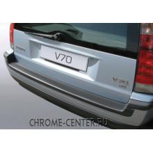 Накладка на задний бампер полиуретановая VOLVO V70 (2001-2007)